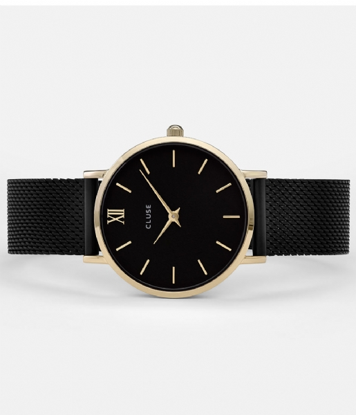 cluse-minuit-mesh-gold-black-black-watch-horloge-cl30026-front2-600